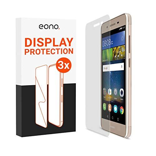 Eono 2.5D Vidrio blindado [3 Unidades] Compatible con Huawei P8 Lite Smart – Cristal Protector contra roturas y arañazos – Apto para Fundas