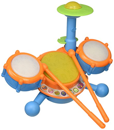 VTech KidiBeats Drum Set (Frustration Free Packaging), Great Gift For Kids, Toddlers, Toy for Boys and Girls, Ages 2, 3, 4, 5