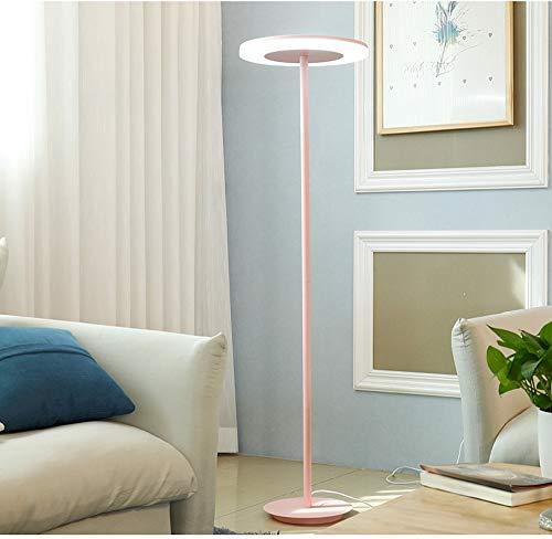 XZHU LED Cartoon Floor Lamps, Nordic Boy Girl Blue/Green/Pink/Yellow Iron Acrylic Lighting Decorative Standing Lamp Romantic Creative Bedroom Children Reading Plug-in Floor Table Light
