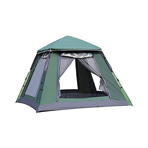WEUROPESV Inicio/Tiendas de campaña al Aire Libre, 4-5 Personas Configuración instantánea Dentro de 1 Minuto Tienda Equipada, a Prueba de Agua Pop Up Tent Cord Access, Green