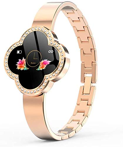 Reloj de pulsera para mujer con monitor de presión arterial y frecuencia cardíaca, pulsera de seguimiento de fitness para Android iOS