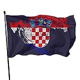 Bandera de la Guardia de Estados Unidos, banderas de bienvenida, bandera de Croacia, mapa y patio de orgullo croata para vacaciones, patio, aniversario, decoración de 3 x 5 pies