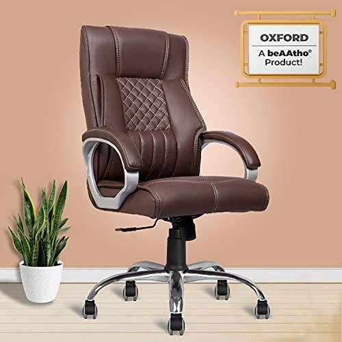 beAAtho JS-29 High Back Teak Executive Office Revolving Chair