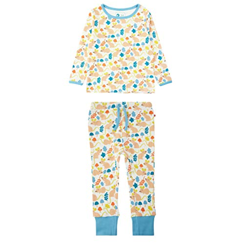 Langer John Style Schlafanzug für Kinder aus weichem Bio Jersey Unsiex Fieldmouse...