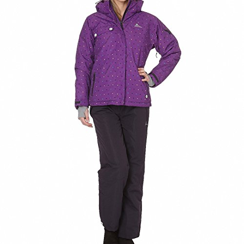 Peak Mountain - Ensemble de ski AVIM-Violet/noir-T3