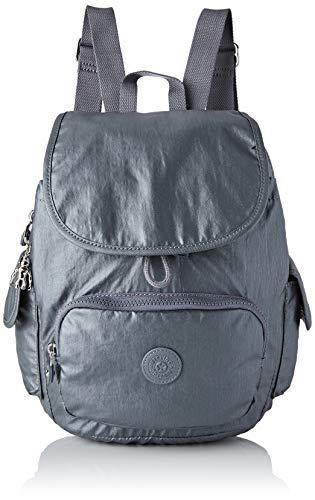 Kipling Damen City Pack S Rucksack, Grau (Steel Gr Metal), 27x33.5x19 centimeters