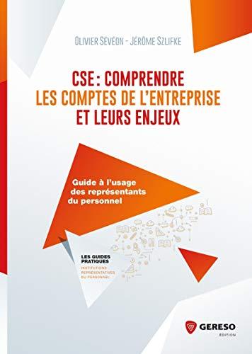 CSE : comprendre les comptes de l'entreprise et leurs enjeux: Guide à l'usage des élus du personnel
