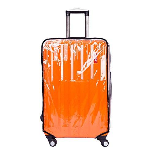 CSTOM PVC Trasparente Fodera Cover Protettiva per Valigia Bagaglio 24' (42cm L x 28cm W x 57-61cm H) 600021-24N