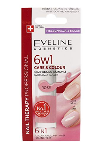 Eveline Cosmetics Nail Therapy Care & Farbe Nail Klimaanlage 6 in1 Rose 5 ml
