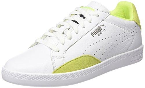 Puma Match Lo Basic Sports, Zapatillas para Mujer, Blanco (white/yellow 19), 40 EU (6.5 UK)