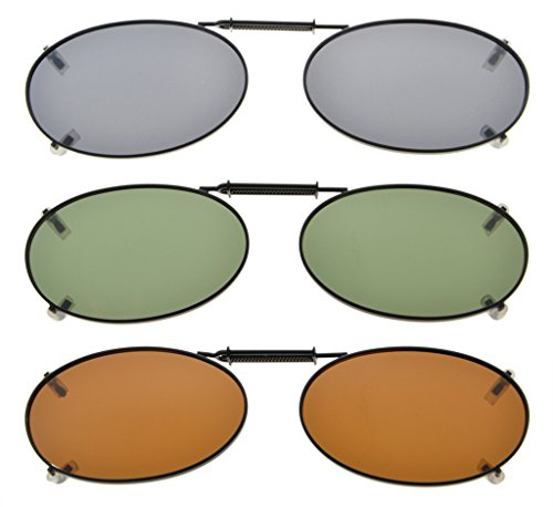 Eyekepper metalen frame velg gepolariseerde lens clip op zonnebril 43x30MM