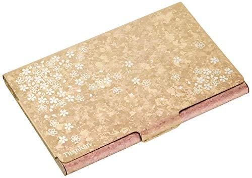 ホリエ チタン製 カードケース ピンク 桜