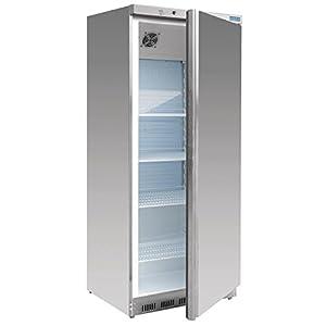 Polar Réfrigérateurà porte simple en acier inoxydable 600 l