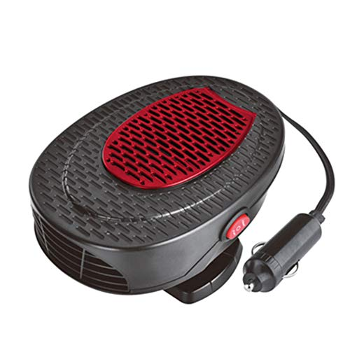 12V Vehículo para automóvil Auto Calentador 2 en 1 Calefactor y Ventilador para Coche con Ajustable 360 ° y 1,5 m Cable para Desempaador Descongelantes de Parabrisa,Red
