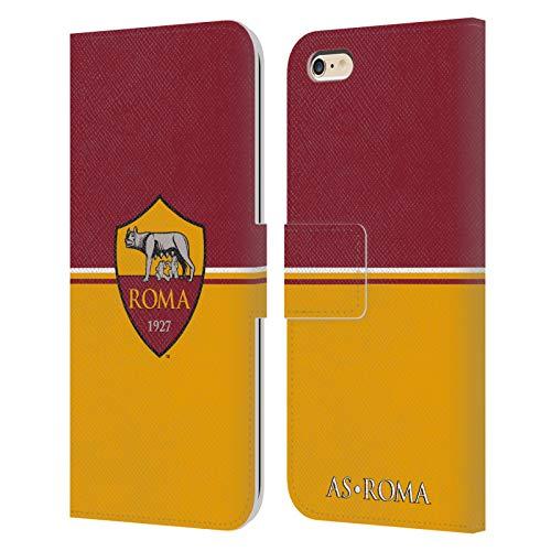 Head Case Designs Licenza Ufficiale AS Roma Bandiera Cresta Cover in Pelle a Portafoglio Compatibile con Apple iPhone 6 Plus/iPhone 6s Plus