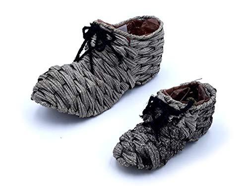 Alliance Déco Nature - Set de 2 cestas en forma de zapato con interior impermeable, color gris