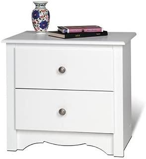Night Stand 2 Drawer - Monterey (White) (23 1/4