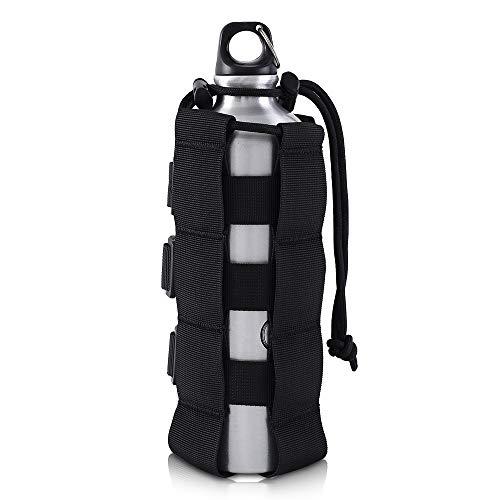 Molle Flaschenhalter mit Kordelzug,0.5L-2.5L Wasserflasche Beutel