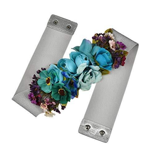 Kunfang Dulce Elegante Mujeres Flor Rosa Cinturón Elástico Cadena de Cintura...
