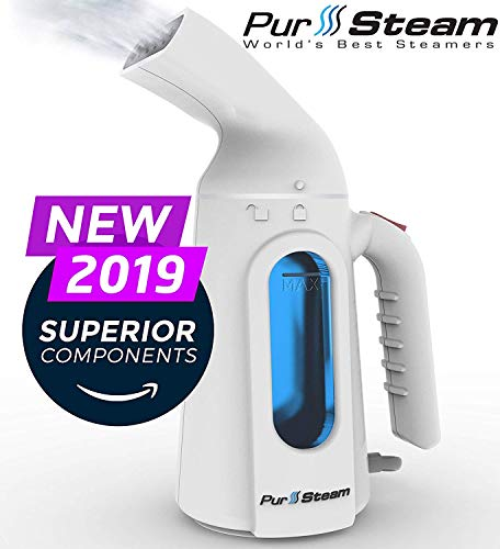 PurSteam Steamer for Clothes. Highest Quality, Fastest Heating InfaTherm Technology, 8-in-1, Wrinkle Remover- Clean- Sterilize-Refresh- Treat-, Auto Off