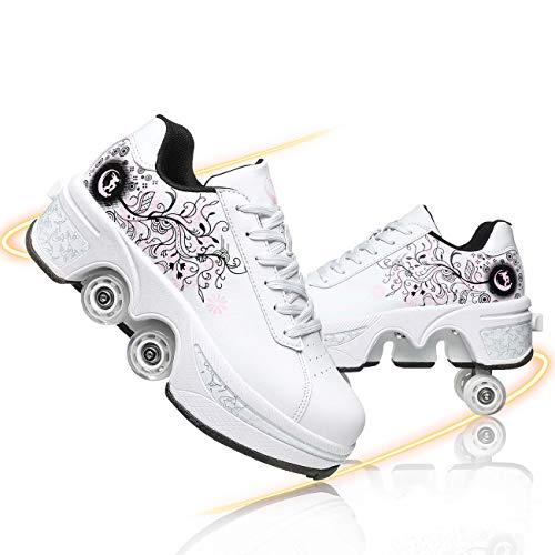 Fbewan Damen Und Mädchen Rollschuhe Skateboard Schuhe Kinderschuhe Mit Rollen Skate Shoes Rollschuhe Schuhe Sportschuhe Laufschuhe inliner Herren