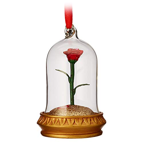 Disney Enchanted Rose Light-Up Sketchbook Ornament - Beauty and The Beast