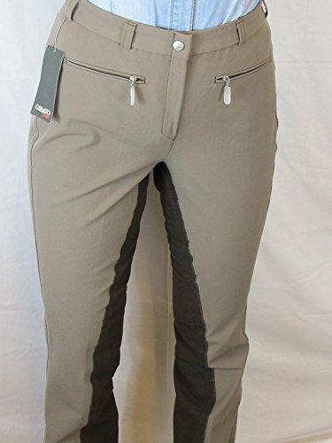 CATAGO Damen Reithose Dublin Micro Jodhpurhose, Polyester, mit kontrastfarbenem Vollbesatz