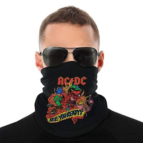 1990 Acdc Are You Ready Bufanda tubular para hombres y mujeres Mascarilla Turbante Pasamontañas Multifuncional Sombreros Cuello cálido