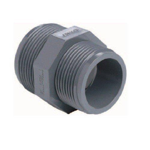 Doppelnippel PVC mit 2 x AG d 1 1/4