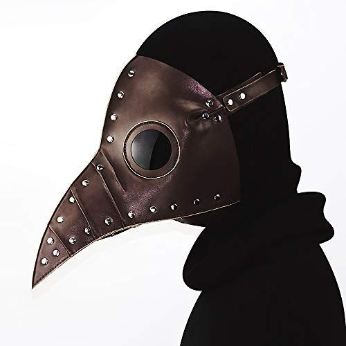 YouthUnion Halloween Maschere Steampunk Medico della Peste degli Uccelli retrò Industriale Medievale Gotico Party Party per Uomo Donna (Style3)