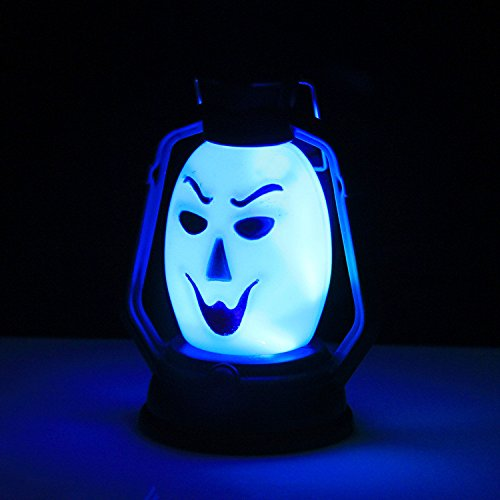 BB67 Halloween Sneaky Calabaza Calavera Bruja Lámpara Lerosene Lámpara con sombras para colgar accesorios fiesta decoración del hogar suministros para niños niños adultos regalo