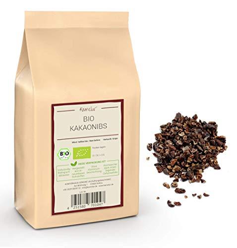 500g de graines de cacao BIO fabriquées à partir de fèves de cacao Criollo non torréfiées - aliment cru - nibs de cacao biologiques pour une expérience gustative intense - emballages écologiques
