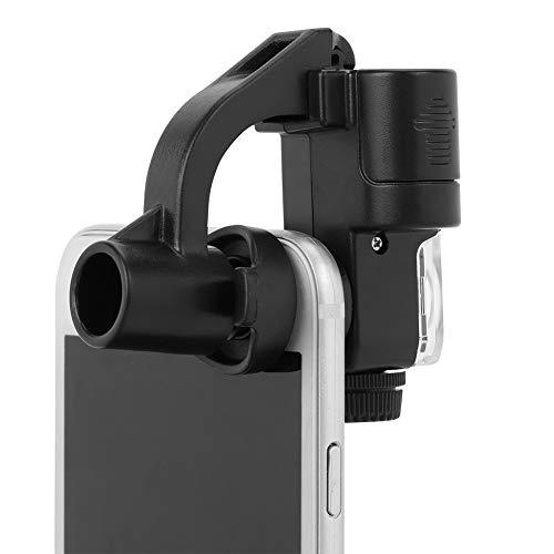 スマホ顕微鏡 90倍 クリップ式 LED顕微鏡 ミニ 携帯用ルーペ 折りたたみ 軽量 拡大鏡 宝石鑑賞 通貨検出 切手 昆虫 精密観察 おしゃれ プレゼント ブラック