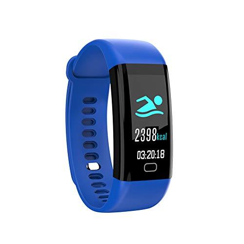 Hunterace Sport Smart Bracelet Fitness Tracker para Hombres Mujeres Niños Multifunción Impermeable Monitor de presión arterial Monitor de ritmo cardíaco Pulsera-Azul