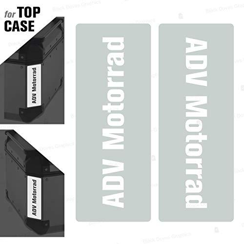 2 adhesivos reflectantes compatibles con Givi Monokey Trekker Outback Baúl aluminio Top Case 37 42 48 L (blanco)
