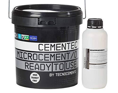 CEMENTEC Microcemento listo al uso HIGH TRANSIT FINO Ready to use (11,0 kg, Gris perla)