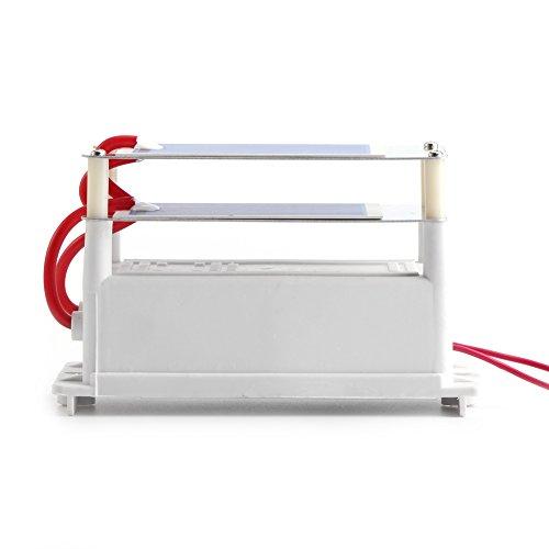 7g 110V / 220V Ozongenerator Luftreiniger Sterilisator Integrierter Ozonizer mit doppelten Blechen aus Streifen-Ozon Keramikplatten(AC220V)