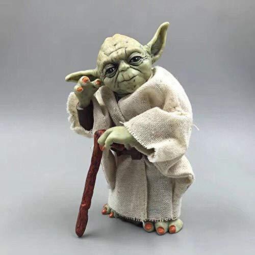 LHFD Crutches Yoda, Baby Yoda, 13 cm, Children's figures, ornaments, Collector's toy, Crutches Yoda.