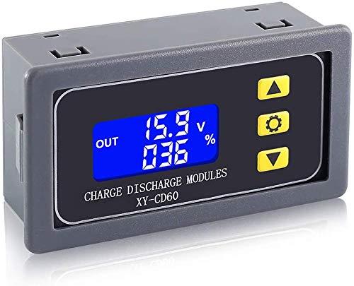 Laderegler Überentladeschutzmodul für 9 V, 12 V, 24 V, 36 V, 48 V Lithium-Li-Ionen-Blei-Säure-Akku LCD-Display Spannung Kapazität in Prozent