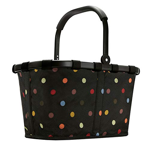 Reisenthel carrybag Einkaufskorb 22 Liter Sonderedition Black Frame schwarzer Rahmen - dots Black