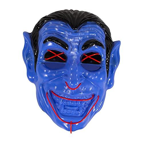 Mscara de Halloween para Halloween, mscara de luz LED, mscara de alambre de miedo para festivales, cosplay, Halloween, disfraz de mascarada, carnaval, regalo