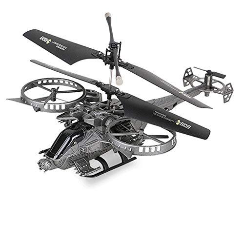 MXXQQ Helicóptero RC, helicóptero de controle remoto com indução por infravermelho, posicionamento preciso de 360°, brinquedo de helicóptero voador USB, presentes de aniversário para jogos de jardim infantis