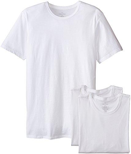 Calvin Klein Men's Cotton Classics Slim Fit Crew Neck T-Shirts