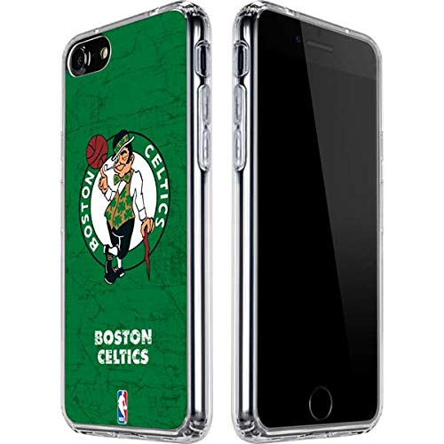 Skinit Clear Phone Case for iPhone SE - Officially Licensed NBA Boston Celtics Green Primary Logo Design