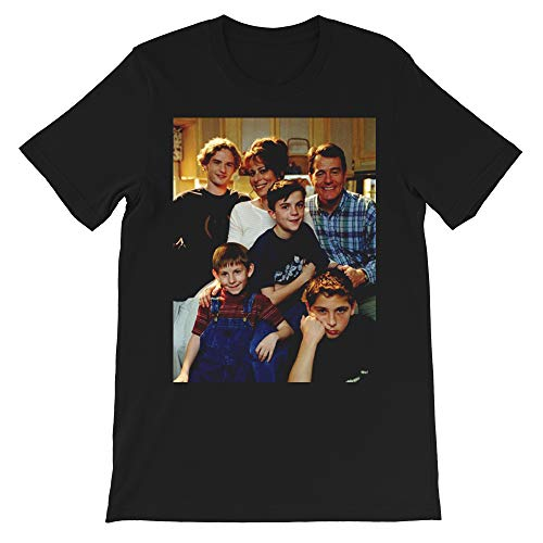 MITM Season 1 Cast Malcolm in The Middle 90s Comedy Malcolm Frankie Muniz Bryan Cranston Gift Men Women Unisex T-Shirt (Black-2XL)