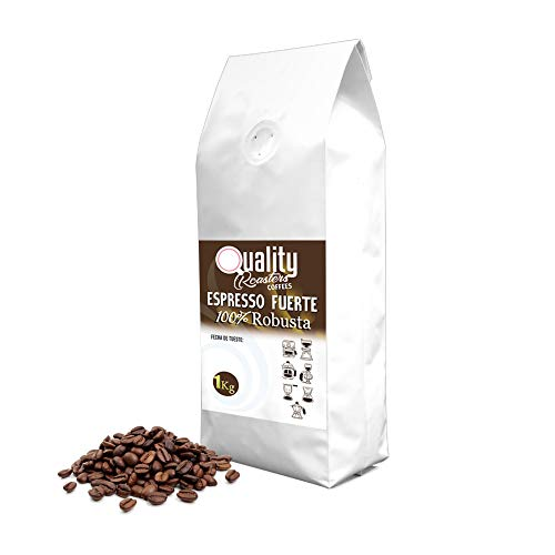"""☕ Natürliche Kaffeebohnen. """"Starker Espresso/Espresso Fuerte"""". 100% Robusta 1kg. Röstkaffee handwerk."""