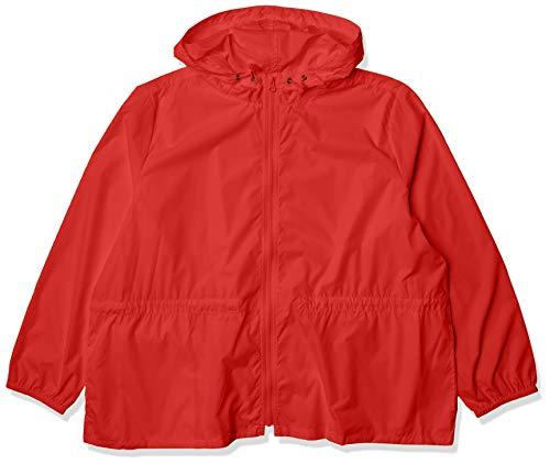 J.Crew Mercantile Women's Packable Rain Jacket, Dark Poppy, XXL