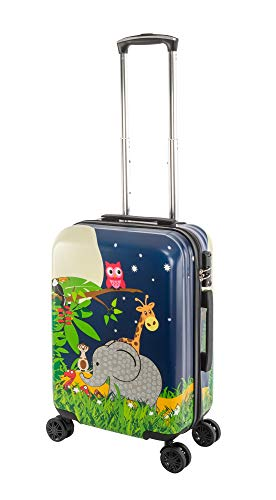 Travelhouse Happy CHILDREEN - Trolley da viaggio per bambini, disponibile in diverse misure e colori, elefante (Multicolore) - TRAVELHOUSE-D7-L