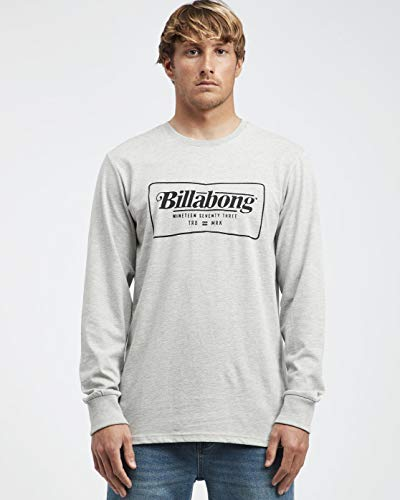BILLABONG TRD Mrk Ls Tee Shirt Homme Grey Heather FR: M (Taille Fabricant: M)