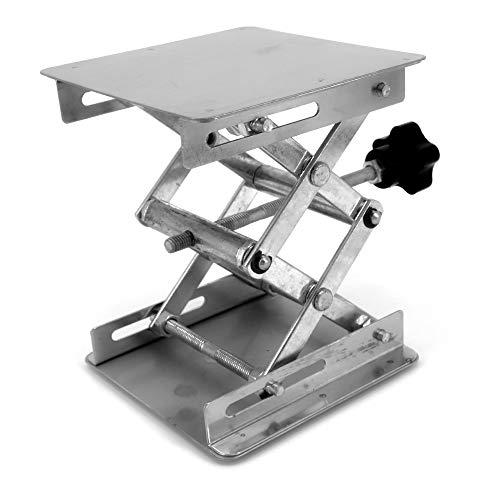 Laborscherenwagenheber Edelstahl Laborständer Tisch Scherenlift für Lab-Lift, manuelle Steuerung 4 x 100 mm